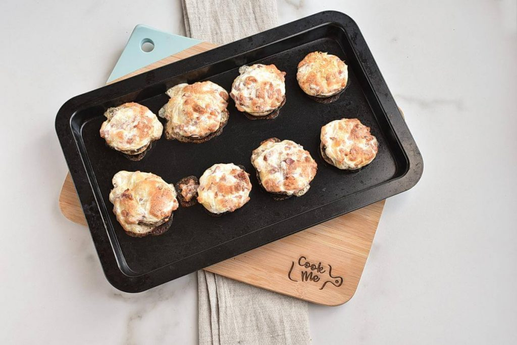 Ham & Cheese Stuffed Mushrooms recipe - step 5