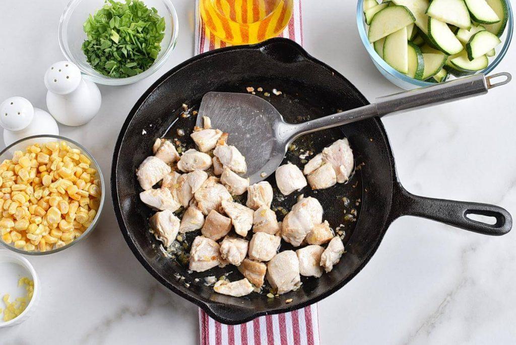 Healthy Chicken Zucchini and Corn recipe - step 2