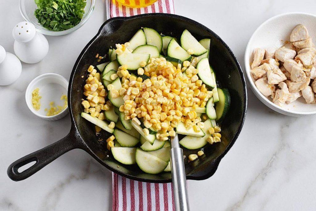 Healthy Chicken Zucchini and Corn recipe - step 3