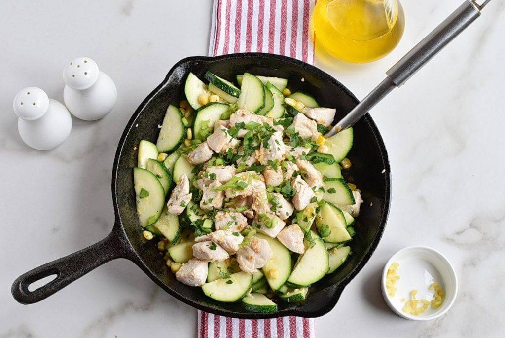 Healthy Chicken Zucchini and Corn recipe - step 4