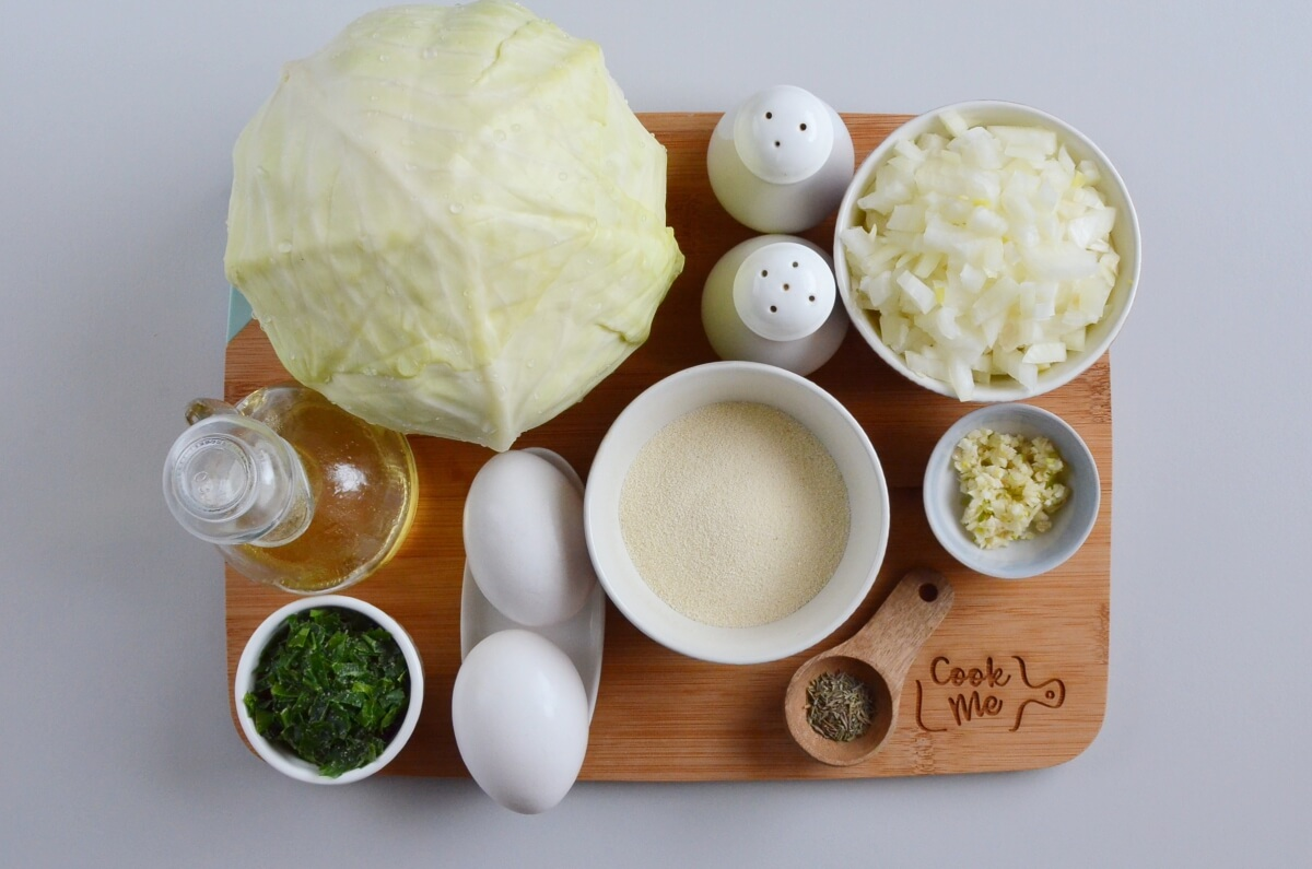 Ingridiens for Indian Cabbage Cutlets