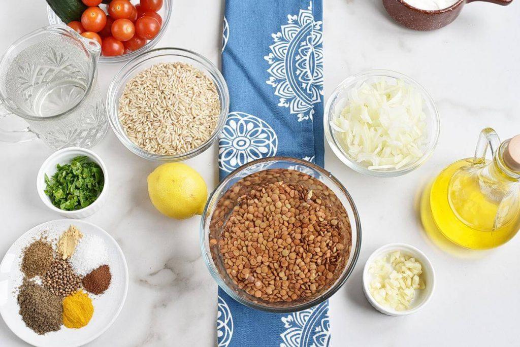 Instant Pot Mujadara recipe - step 1