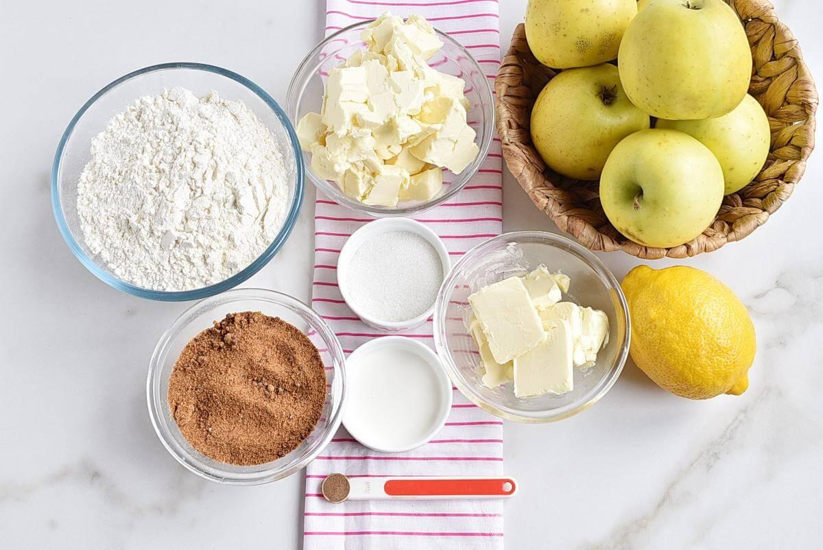 Ingridiens for Perfect Apple Pie
