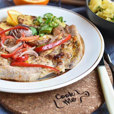 Pork Chops with Orange-Avocado Salsa Recipes–Homemade Pork Chops with Orange–Avocado Salsa–Eazy Pork Chops with Orange-Avocado Salsa