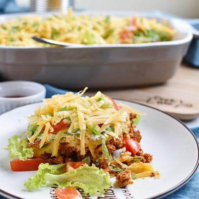 Potluck Taco Casserole Recipes–Homemade Potluck Taco Casserole–Easy Potluck Taco Casserole