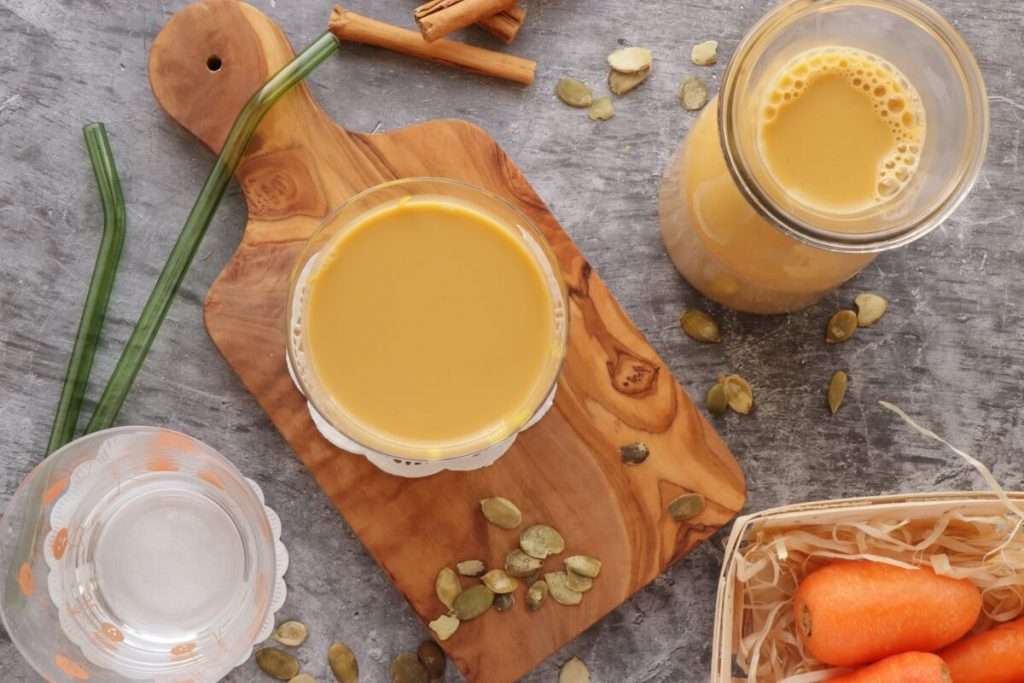 How to serve Dairy-Free Pumpkin Seed Carrot Milk