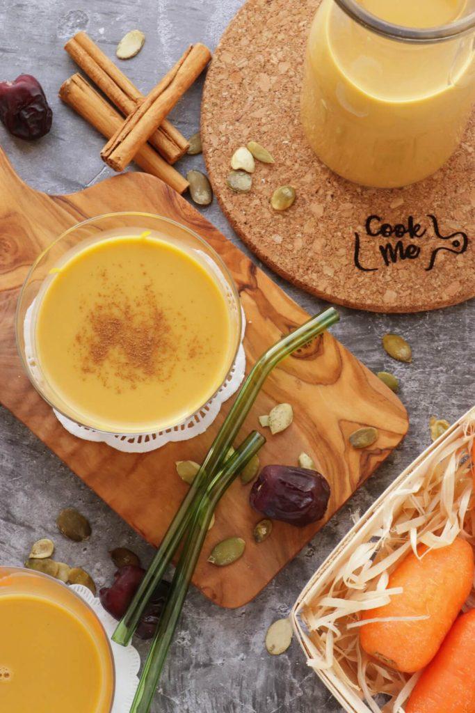 Dairy-Free Pumpkin Seed Carrot Milk