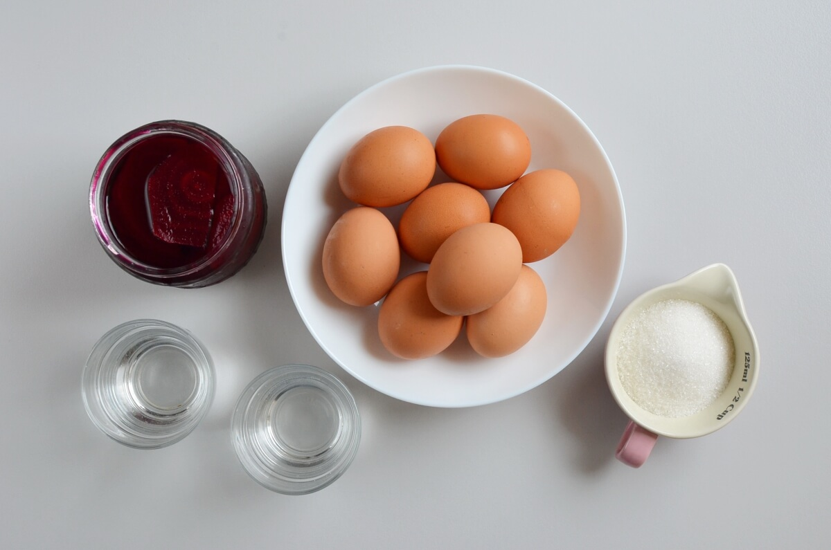 Ingridiens for Quick Pickled Eggs and Beets