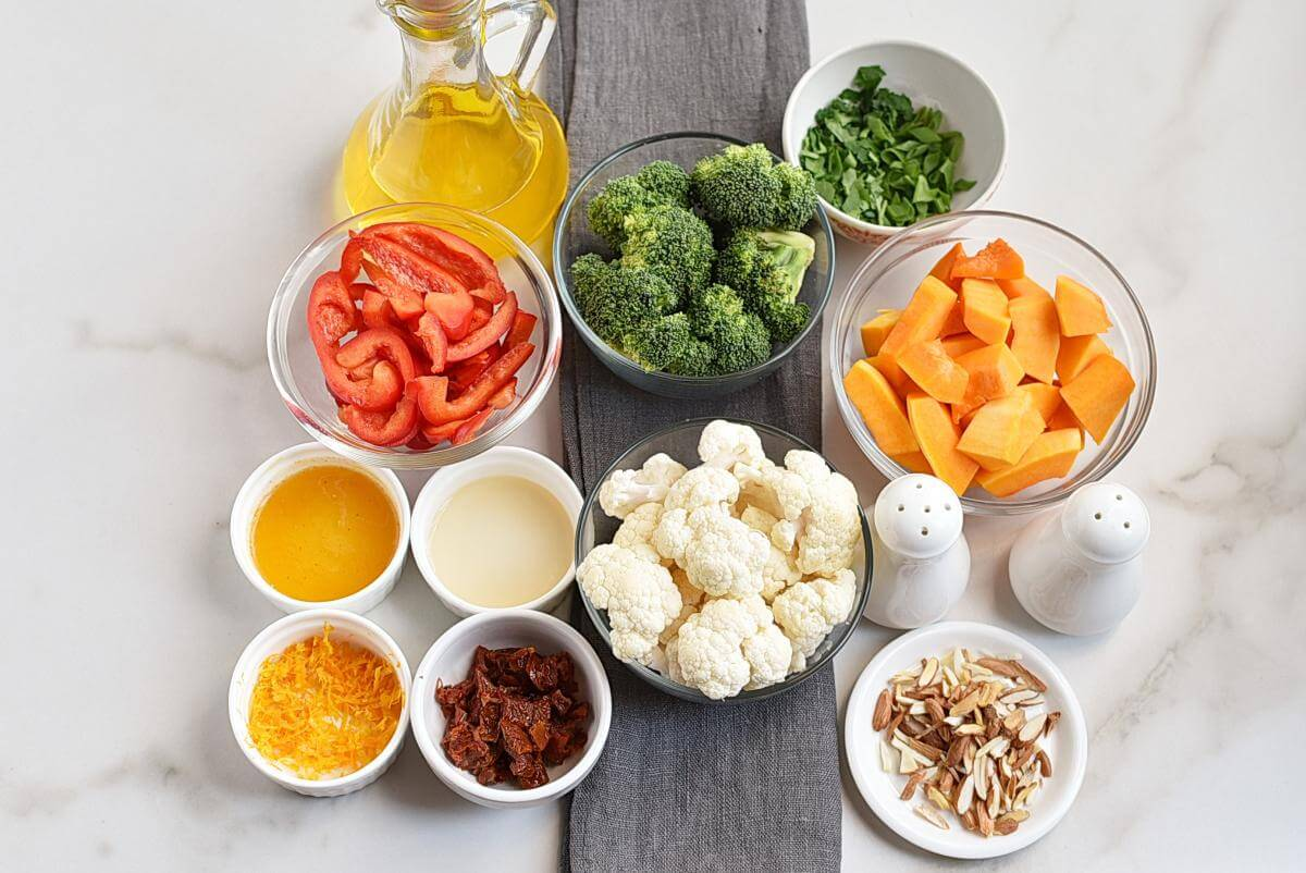 Ingridiens for Roasted Vegetables with Gremolata