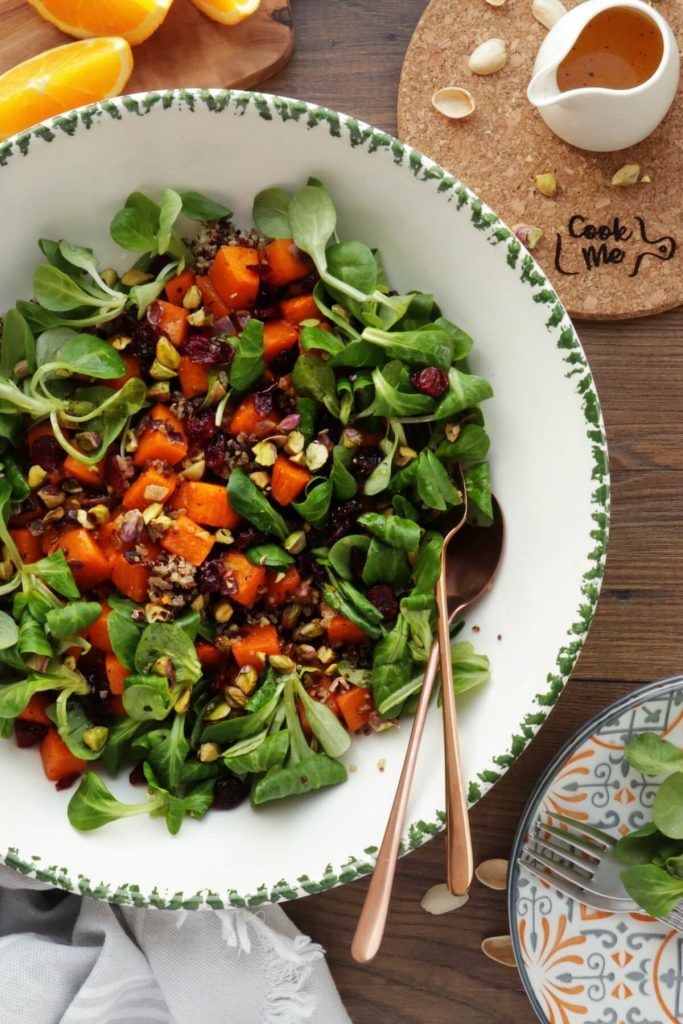 Warm Quinoa Salad with Butternut Squash and Pistachios
