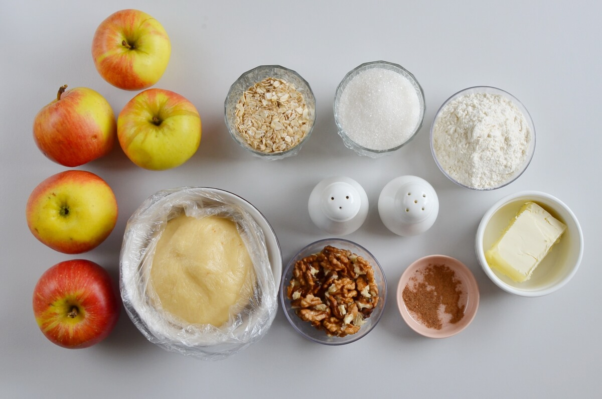Ingridiens for Yummy Crunchy Apple Pie