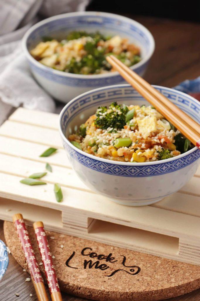 10-Minute Healthy Cauliflower Rice