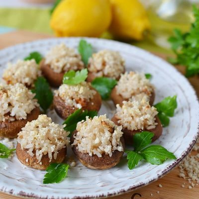 7-Ingredient Vegan Stuffed Mushrooms Recipe-How To Make 7-Ingredient Vegan Stuffed Mushrooms-Delicious 7-Ingredient Vegan Stuffed Mushrooms