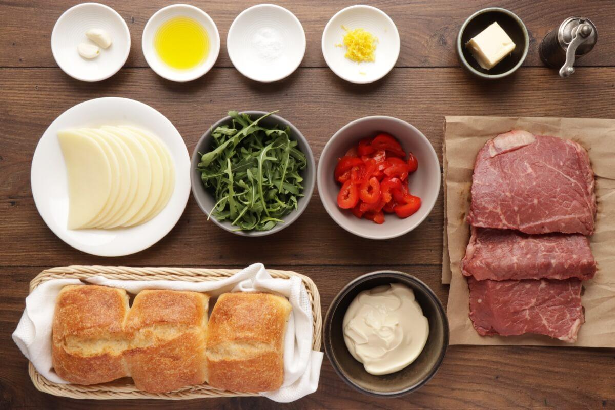 Ingridiens for Best Steak Sandwich