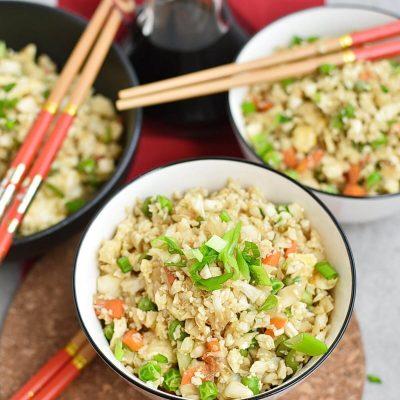 "Cauliflower ""Fried Rice"" Recipes–Homemade Cauliflower ""Fried Rice""–Eazy Cauliflower ""Fried Rice"""