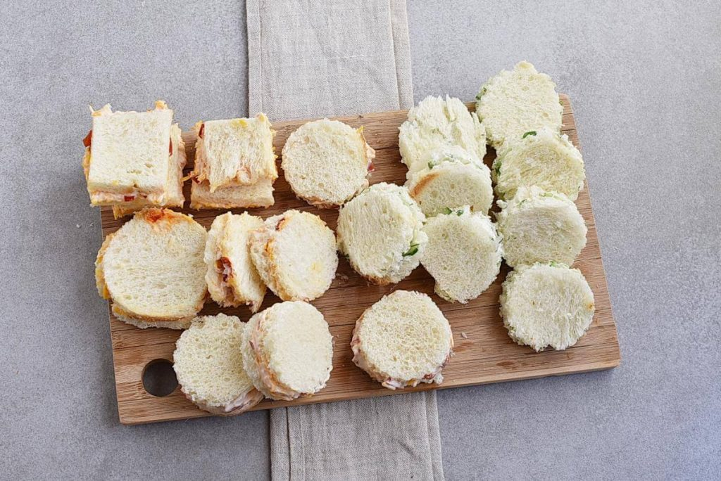 How to serve Cucumber and Pimiento Cheese Tea Sandwiches