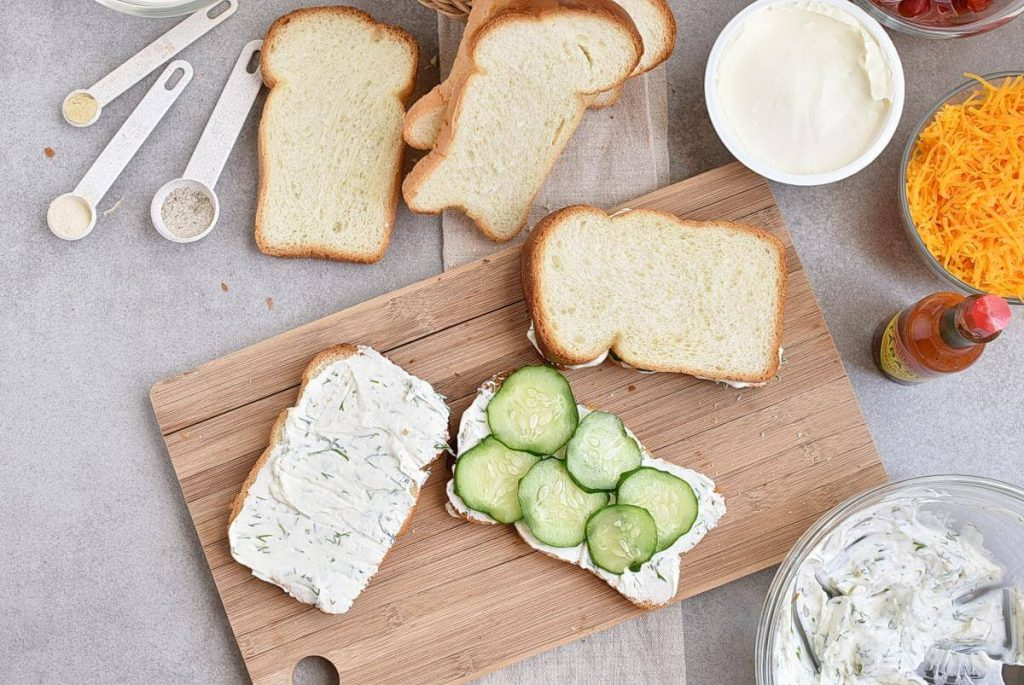 Cucumber and Pimiento Cheese Tea Sandwiches recipe - step 3