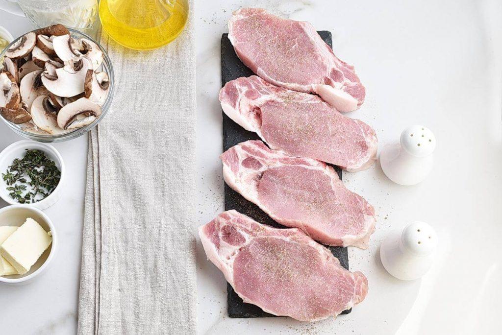 Pork Chops with Creamy Mushroom Sauce recipe - step 1