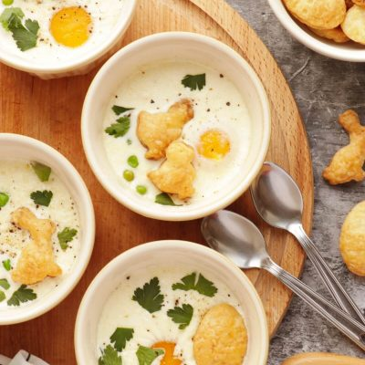 Eggs en Cocotte Recipe-Oeufs Cocotte-How To Bake Eggs in the Oven-Easter Brunch Ideas-Easter Brunch 2021