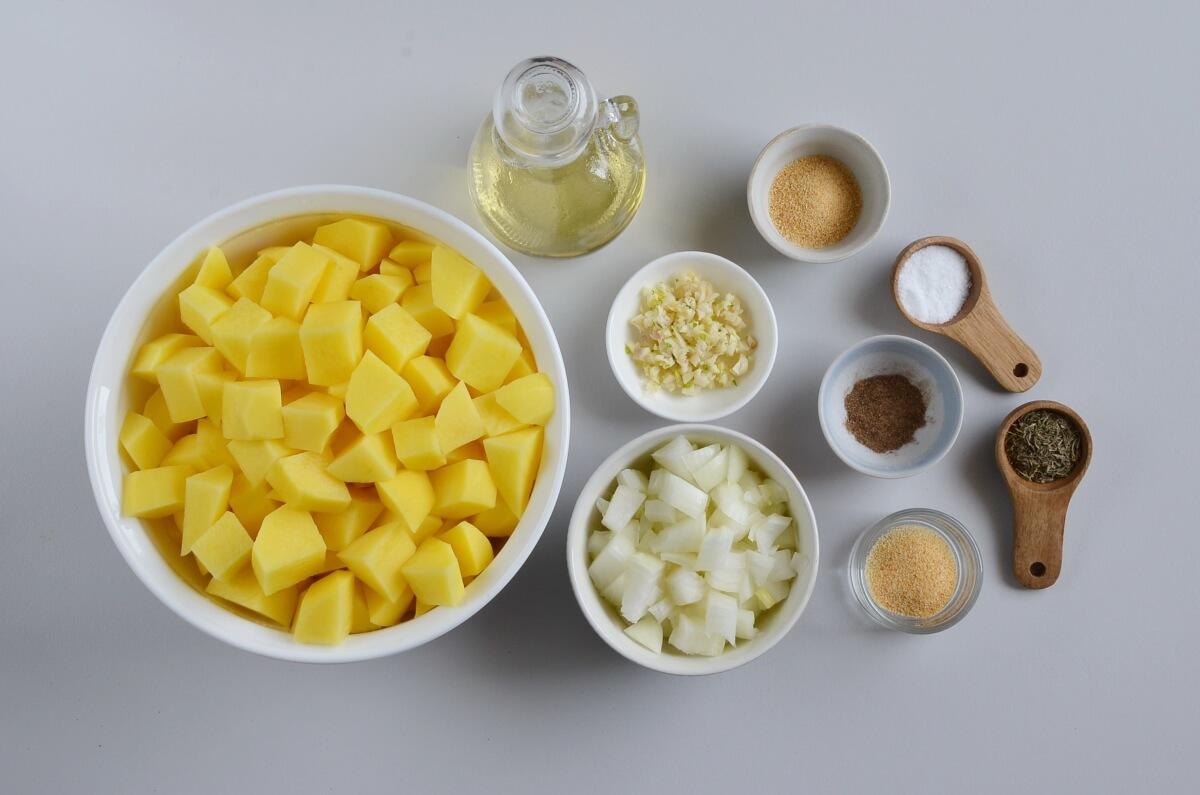 Ingridiens for Famous Crispy Potato Casserole