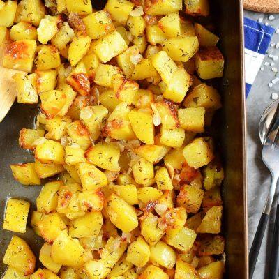 Famous Crispy Potato Casserole Recipe-How To Make Famous Crispy Potato Casserole-Easy Famous Crispy Potato Casserole