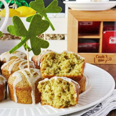 Fluffy-Matcha-Lemon-Muffins-Recipe-Matcha-Lemon-Muffins-St.-Patricks-Day-Muffins