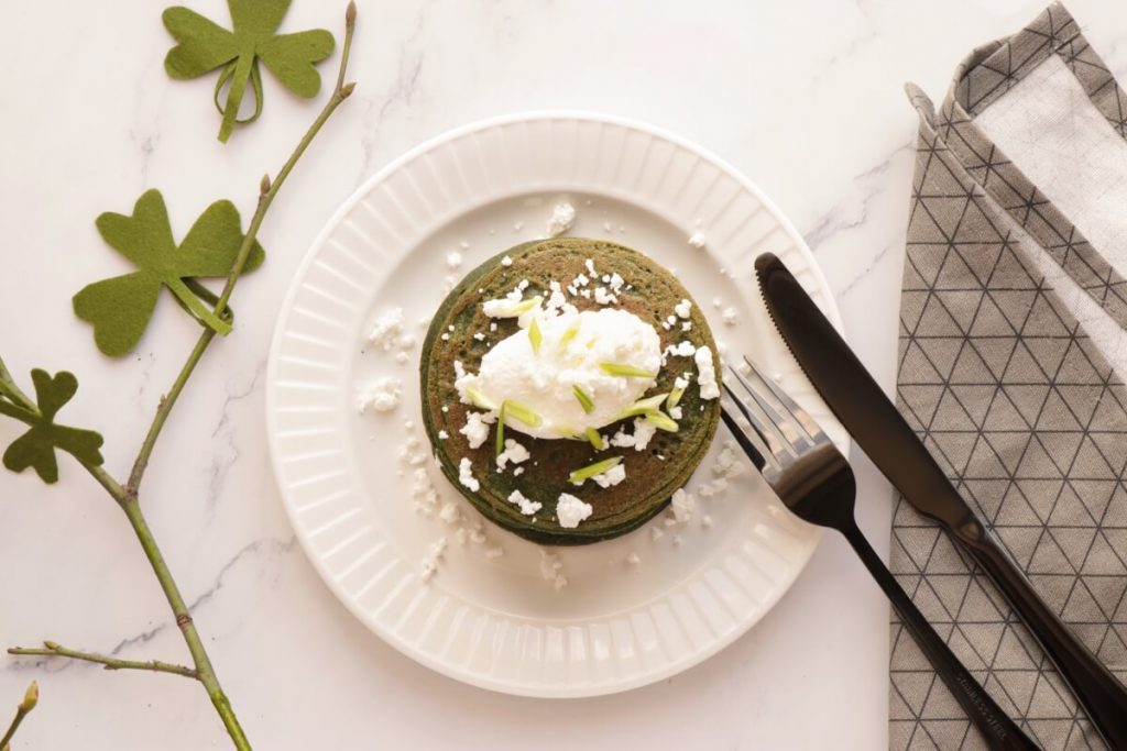 How to serve Healthy Green Spinach Pancakes