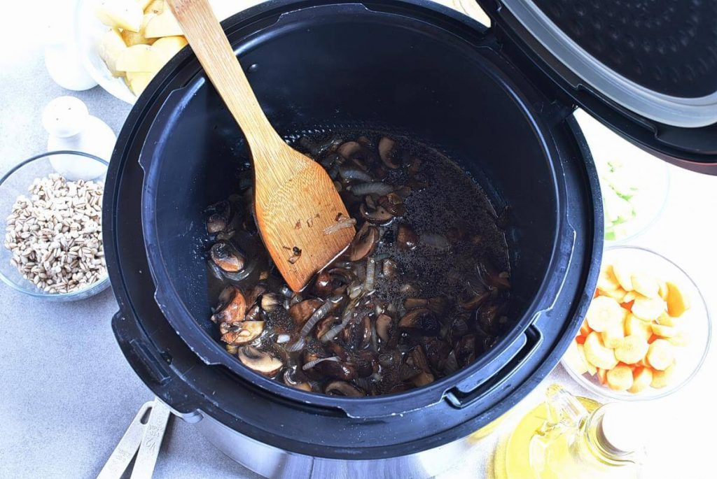Instant Pot Beef Barley and Mushroom Soup recipe - step 4