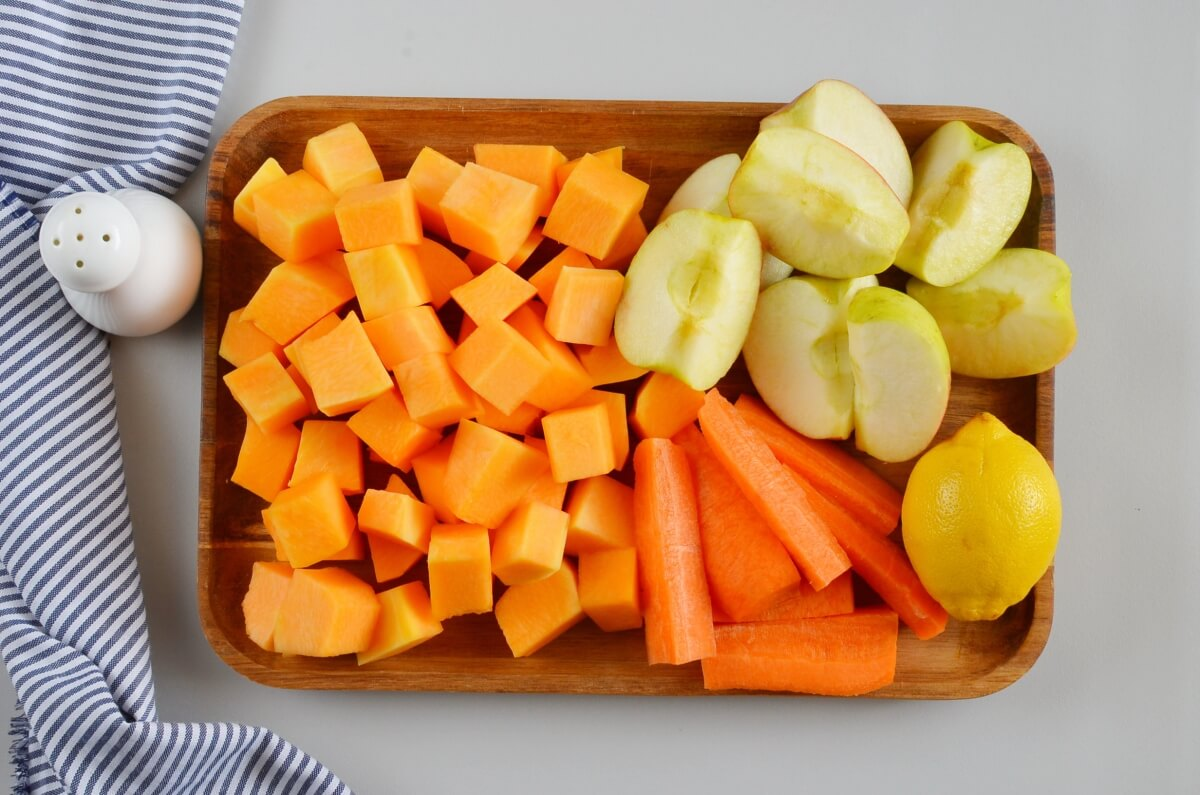 Ingridiens for Mixed Fruit and Vegetable Juice