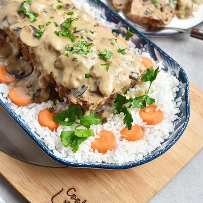 Mushroom Meatloaf with Mushroom Gravy Recipes–Homemade Mushroom Meatloaf with Mushroom Gravy–Eazy Mushroom Meatloaf with Mushroom Gravy