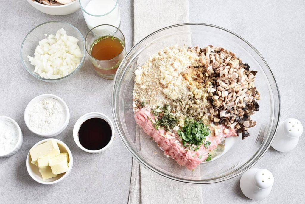 Mushroom Meatloaf with Mushroom Gravy recipe - step 2