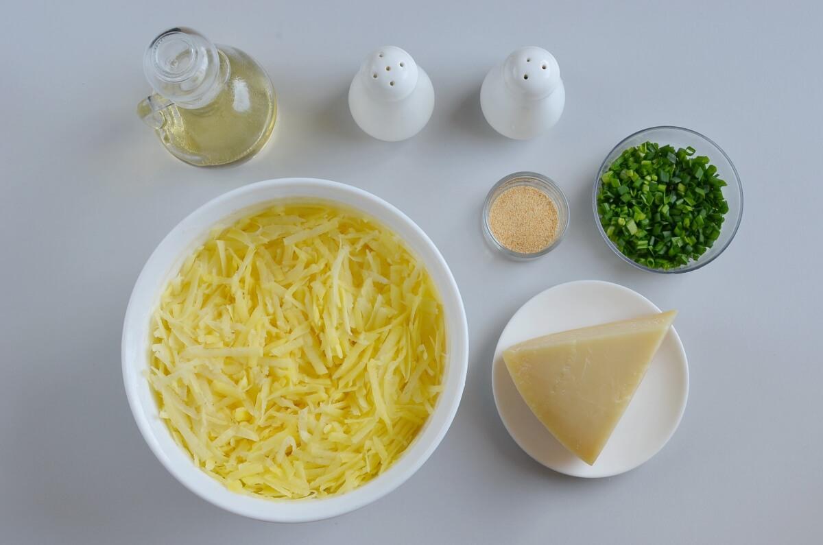Ingridiens for Parmesan Hash Brown Cups