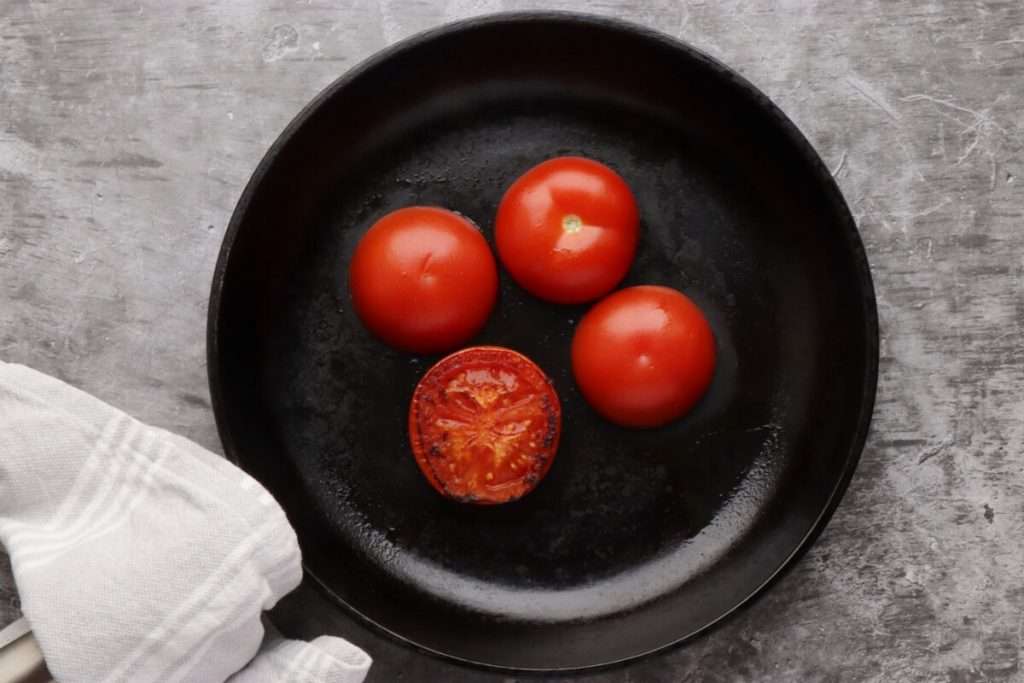 Poached Eggs with Smashed Avocado and Tomatoes recipe - step 1