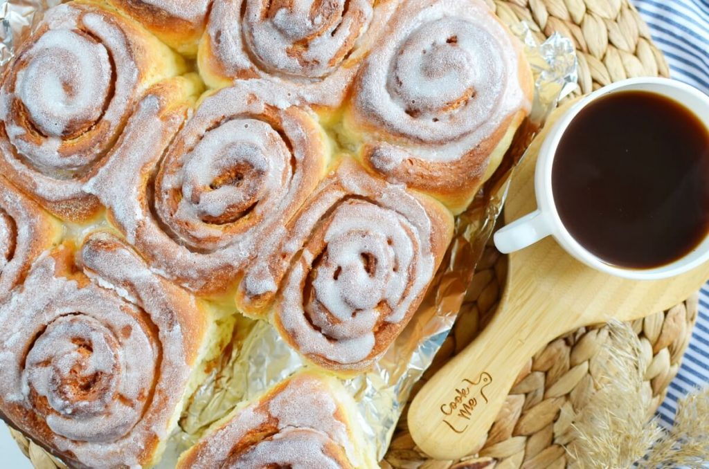 How to serve Quick 45 Minute Cinnamon Rolls