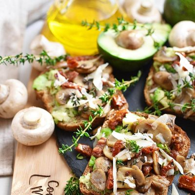Sautéed Mushroom and Avocado Toast Recipes–Homemade Sautéed Mushroom and Avocado Toast–Eazy Sautéed Mushroom and Avocado Toast
