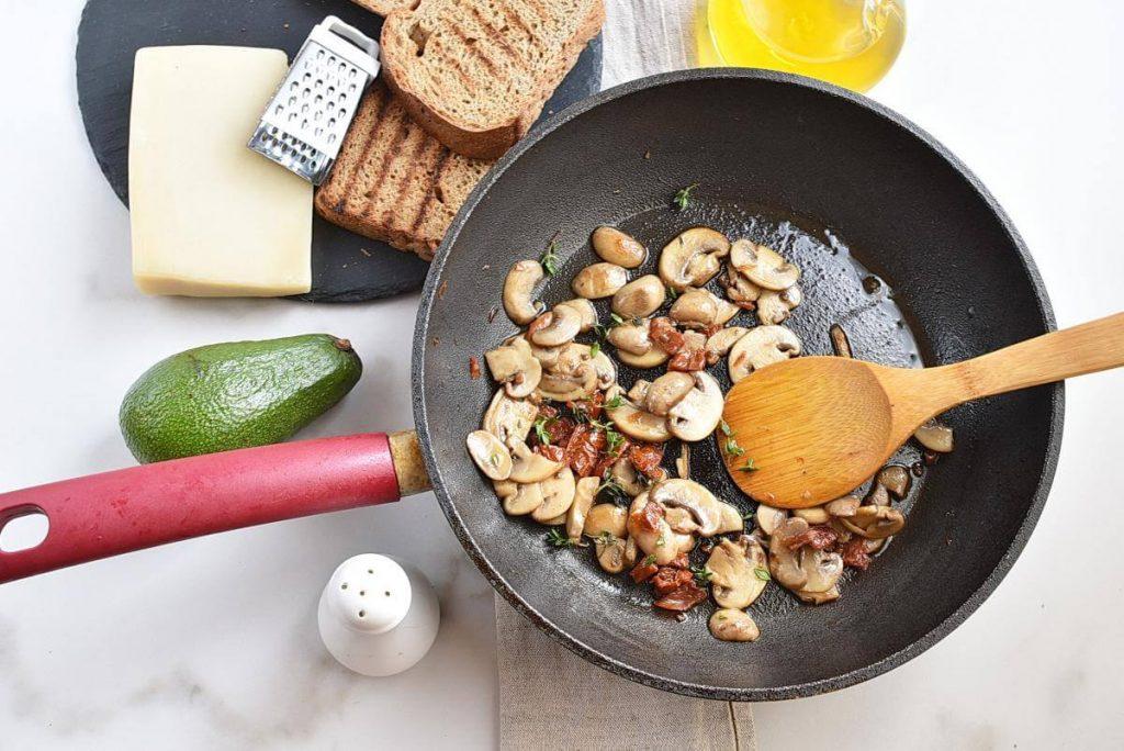 Sautéed Mushroom & Sun-Dried Tomato Avocado Toast recipe - step 3