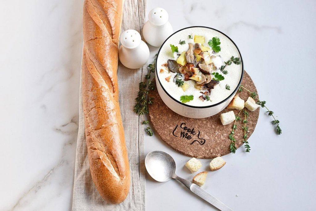 How to serve Shiitake Oyster Mushroom Soup