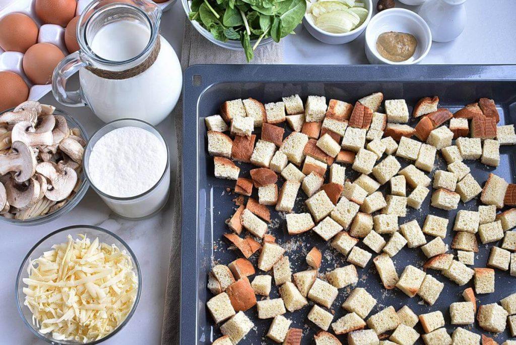 Spinach Mushroom Strata recipe - step 2