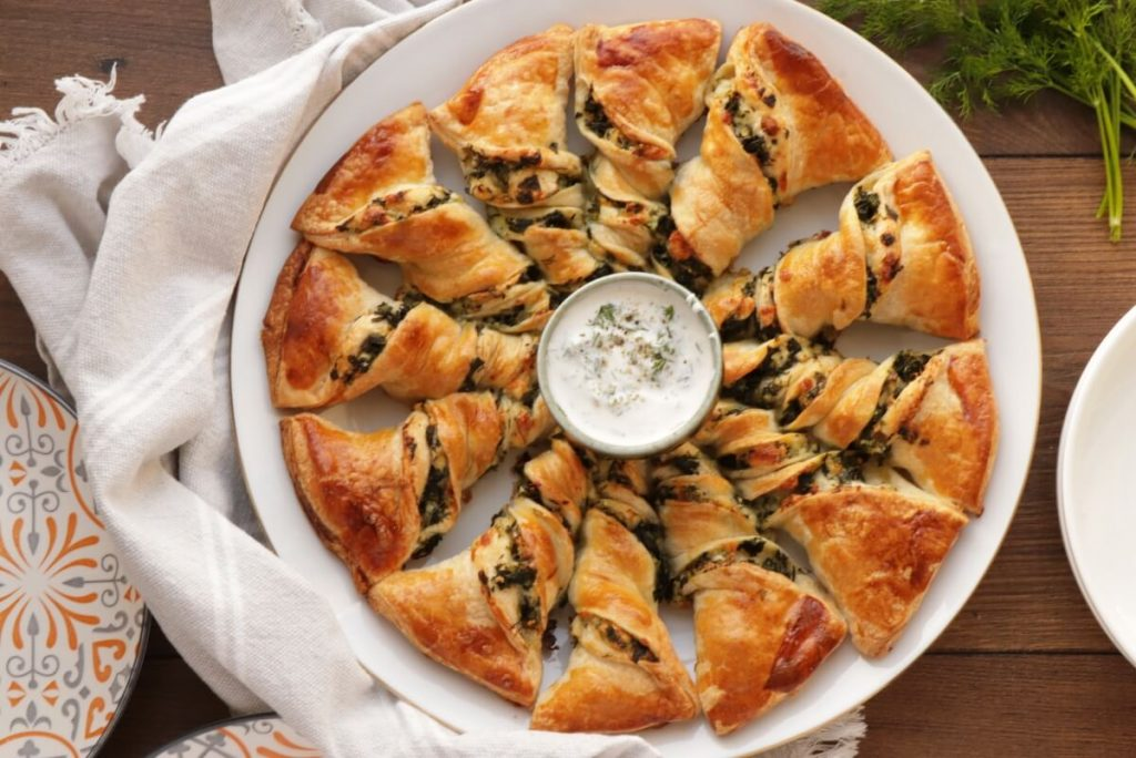 How to serve Spinach and Feta Tarte Soleil