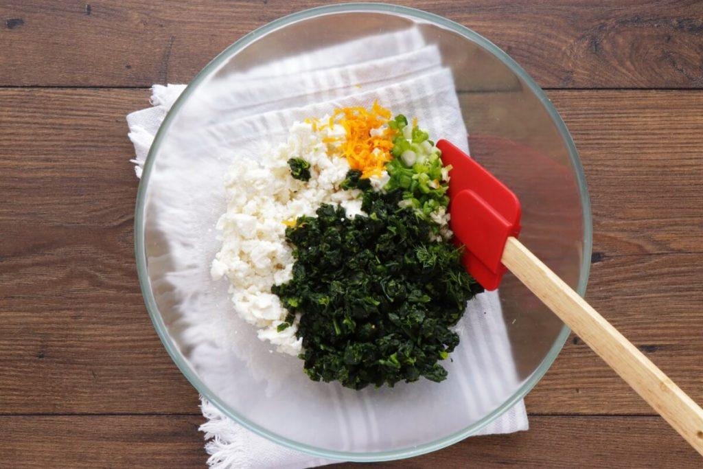 Spinach and Feta Tarte Soleil recipe - step 1