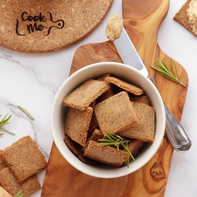 Vegan Gluten-Free Almond Crackers Recipe-Homemade Healthy Crackers-Easy Gluten Free Crackers