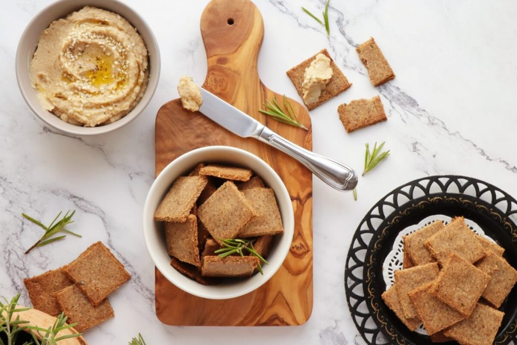 How to serve Vegan Gluten-Free Almond Crackers