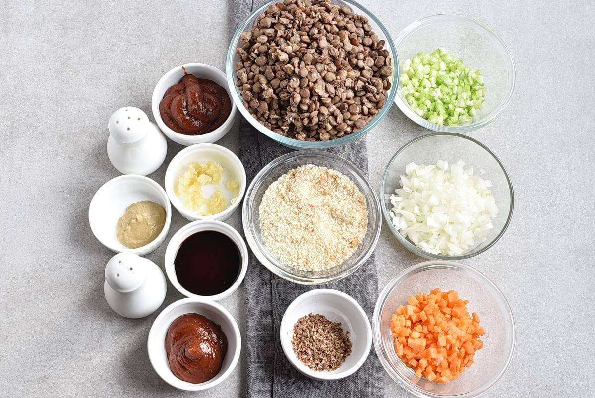 Ingridiens for Vegan Meatloaf Muffins