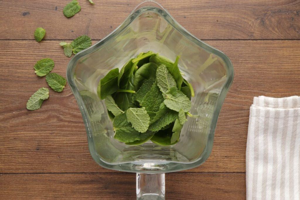 Vegan Minty Shamrock Smoothie recipe - step 1