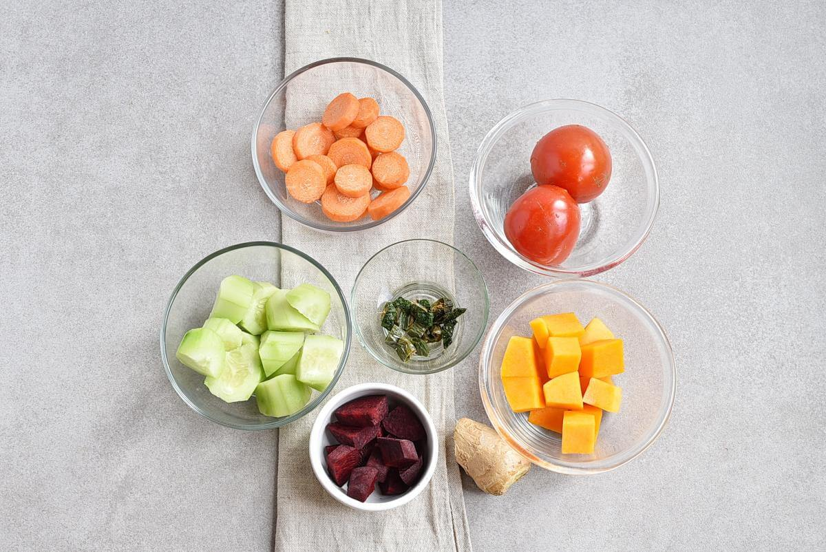 Ingridiens for Vegetable Juice for Weight Loss