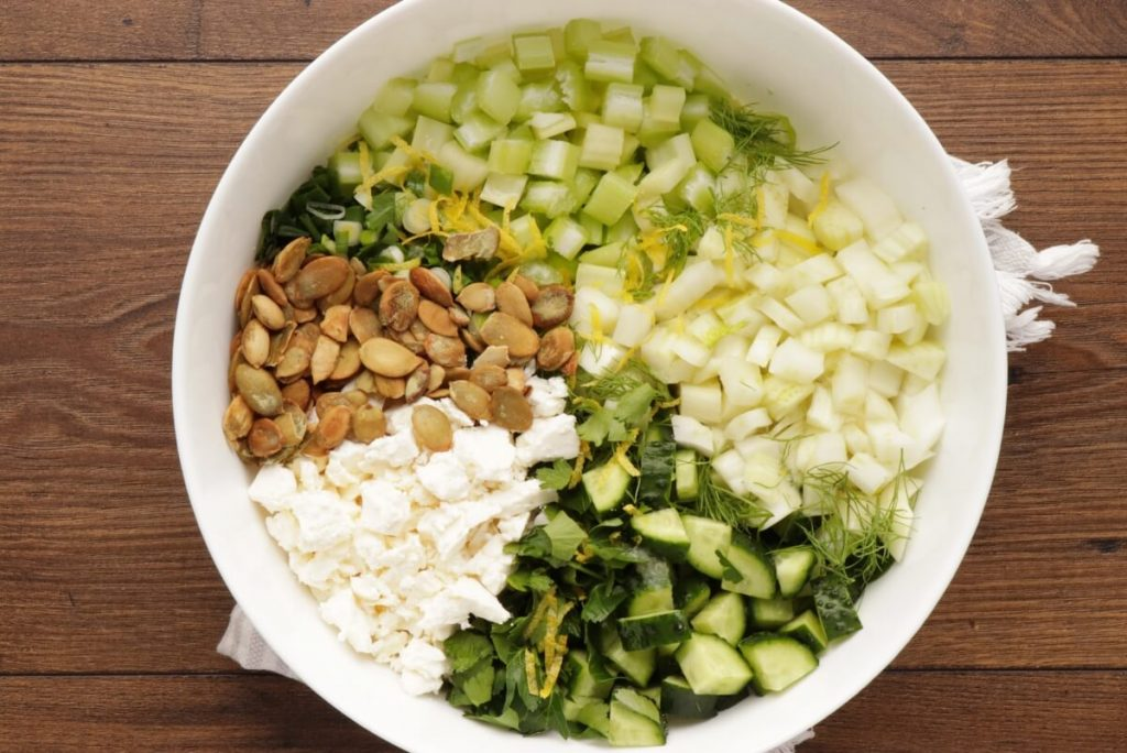 Veggie-Packed Chopped Salad with Feta and Herbs recipe - step 3