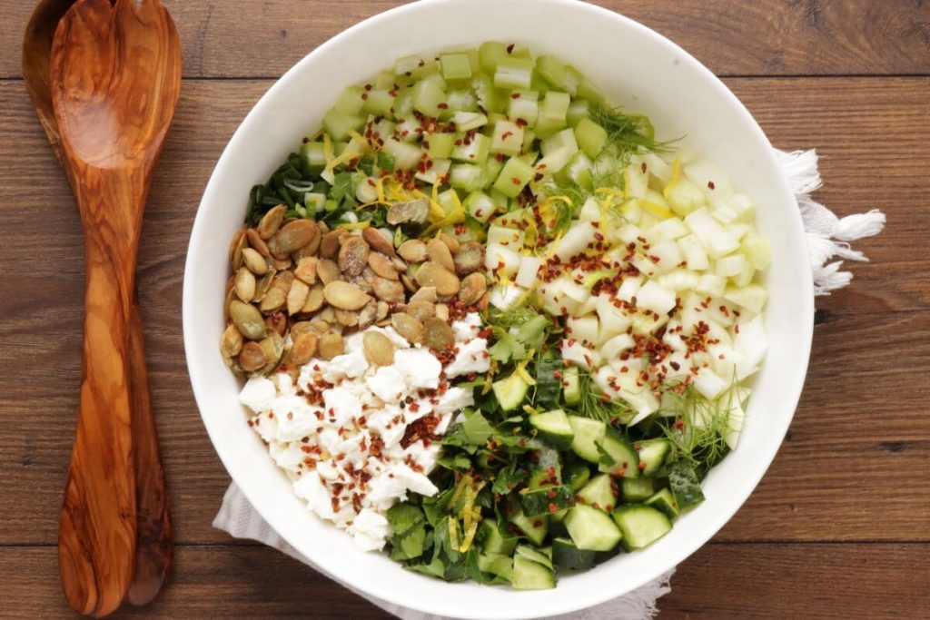 Veggie-Packed Chopped Salad with Feta and Herbs recipe - step 4