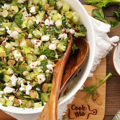 Veggie-Packed Chopped Salad with Feta and Herbs Recipe- Easy Chopped Salad Recipe-Mixed Spring Salad