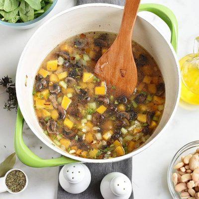 White Bean Tomato Mushroom Soup recipe - step 4