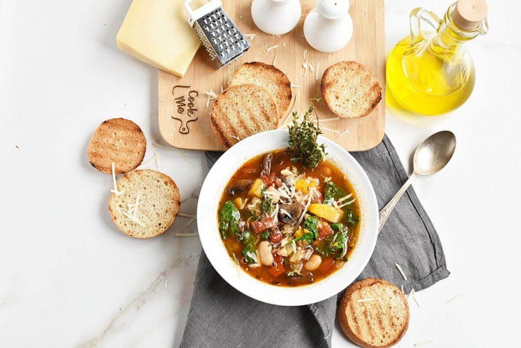 How to serve White Bean Tomato Mushroom Soup